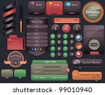 multicolored web elements... | Shutterstock .eps vector #99010940