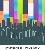 colorful panorama city vector...   Shutterstock .eps vector #99014390