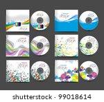 set of vector cd cover design... | Shutterstock .eps vector #99018614