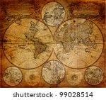vintage map 1746 johann... | Shutterstock . vector #99028514