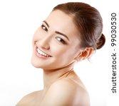 teen girl beauty face happy... | Shutterstock . vector #99030530