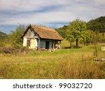 Abandoned Old House On Autumn...