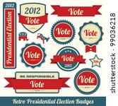 retro presidential election... | Shutterstock .eps vector #99036218