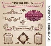 calligraphic elements vintage... | Shutterstock .eps vector #99036503