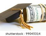 graduation cap and cash roll ... | Shutterstock . vector #99045314