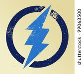 blue thunder crossing circle   Shutterstock .eps vector #99063500