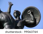 A Bronze Statue Of A Young...