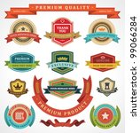 vintage labels and ribbon retro ... | Shutterstock .eps vector #99066284