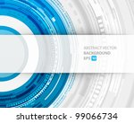 abstract technology circles and ... | Shutterstock .eps vector #99066734