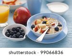 healthy breakfast on the table... | Shutterstock . vector #99066836