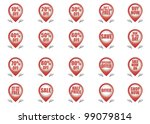 shopping label icons | Shutterstock .eps vector #99079814