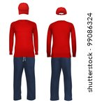 men's blank sport suit template. | Shutterstock .eps vector #99086324