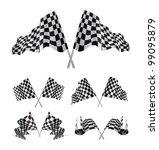 checkered flags set... | Shutterstock . vector #99095879