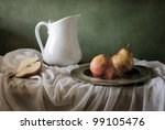 Still Life With Red Pears And A ...