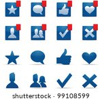 social networking icons | Shutterstock .eps vector #99108599