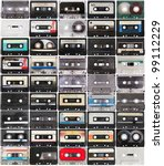 Collection Of Retro Audio Tape...