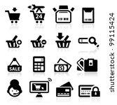 shopping icons set elegant... | Shutterstock .eps vector #99115424