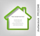 poster template. house | Shutterstock .eps vector #99122348