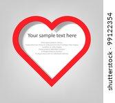 poster template. heart | Shutterstock .eps vector #99122354