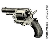 gun   vintage engraved... | Shutterstock .eps vector #99122540