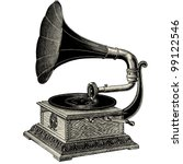 phonograph   vintage engraved... | Shutterstock .eps vector #99122546