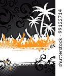 an abstract summer party... | Shutterstock . vector #99122714