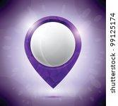 diamond purple pin | Shutterstock .eps vector #99125174