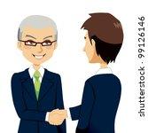 senior experienced salesman... | Shutterstock .eps vector #99126146