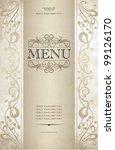 menu cover vector design | Shutterstock .eps vector #99126170