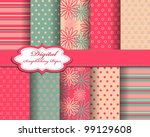 set of flower vector paper for... | Shutterstock .eps vector #99129608