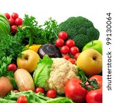 fresh fruits and vegetables... | Shutterstock . vector #99130064