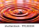 wavy circles on the water  red...   Shutterstock . vector #99130334
