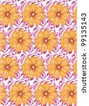 flower seamless pattern | Shutterstock .eps vector #99135143