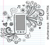 cell phone mobile pda sketchy... | Shutterstock .eps vector #99147956