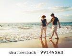 senior couple enjoying sunset... | Shutterstock . vector #99149363