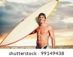 professional surfer holding a... | Shutterstock . vector #99149438