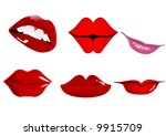 six types of lips | Shutterstock .eps vector #9915709