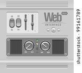 light web ui elements design...