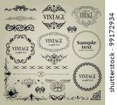 border design | Shutterstock .eps vector #99172934