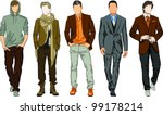 fashion men | Shutterstock .eps vector #99178214