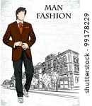vector sketch of fashionable... | Shutterstock .eps vector #99178229