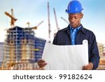 portrait of an engineer at work | Shutterstock . vector #99182624
