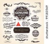 vector set  calligraphic design ... | Shutterstock .eps vector #99183569