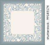 fine floral square frame ...