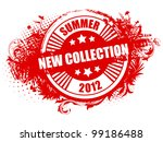 grunge stamp new collection | Shutterstock .eps vector #99186488