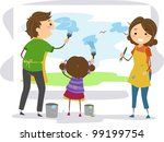 illustration of a family... | Shutterstock .eps vector #99199754