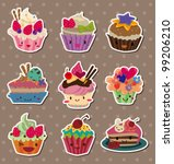 cake stickers | Shutterstock .eps vector #99206210