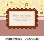 greeting card template design.... | Shutterstock .eps vector #99207038