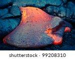 Lava Flow At Hawaii Volcano...