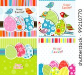 template easter greeting card ... | Shutterstock .eps vector #99210770